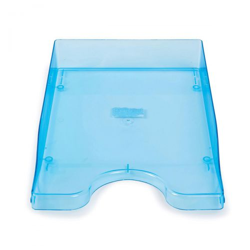 Continental Letter Tray Polystyrene for A4 Foolscap and Computer Printouts Ice Blue