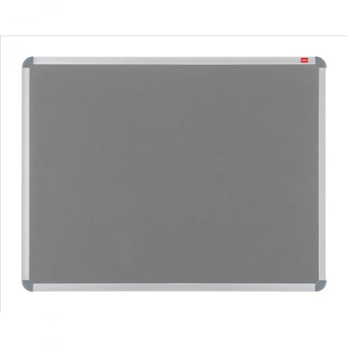Nobo Prestige Felt Noticeboard with Fixings and Aluminium Frame W900xH600mm Grey Ref 30230157
