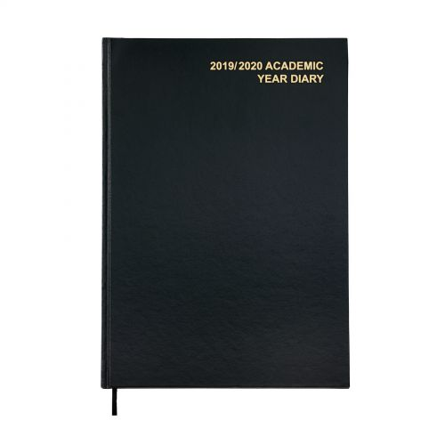 5 Star Office 2019/20 Academic Mid-year Diary Day to Page A4 210x297mm Black