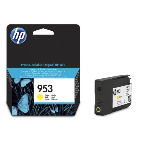 Hewlett Packard [HP] No.953 Inkjet Cartridge Page Life 700pp 10ml Yellow Ref F6U14AE