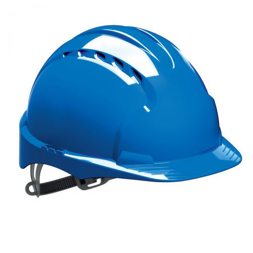 JSP EVO2 Safety Helmet HDPE 6-point Polyethylene Harness EN397 Standard Blue Ref AJF030-000-500