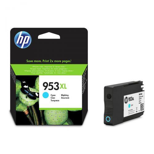 Hewlett Packard [HP] No.953XL Inkjet Cartridge High Yield 1600pp 20ml Cyan Ref F6U16AE