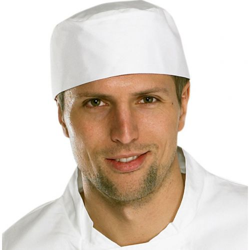 Click Workwear Chefs Skull Cap White Ref CCCSCW *Up to 3 Day Leadtime*