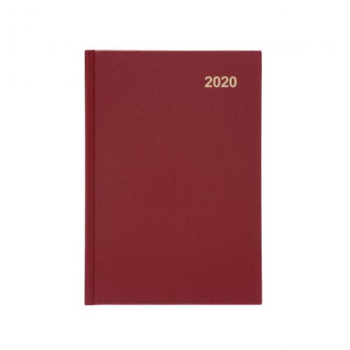 5 Star Office 2020 Diary Week to View Casebound and Sewn Vinyl Coated Board A5 210x148mm Red