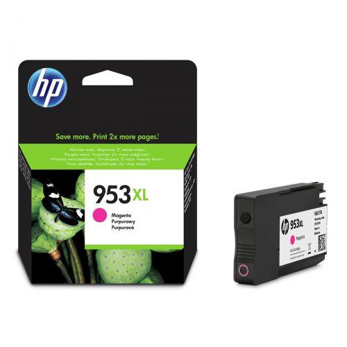 Hewlett Packard [HP] No.953XL Inkjet Cartridge High Yield 1600pp 20ml Magenta Ref F6U17AE