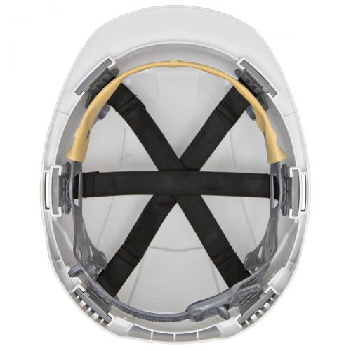 JSP EVOLite Safety Helmet ABS 6-point Terylene Harness EN397 Standard White Ref AJB160-000-100