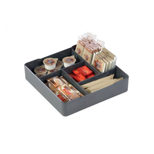Durable Coffee Point Case High Quality Square Serving Aid Charcoal Ref 338658