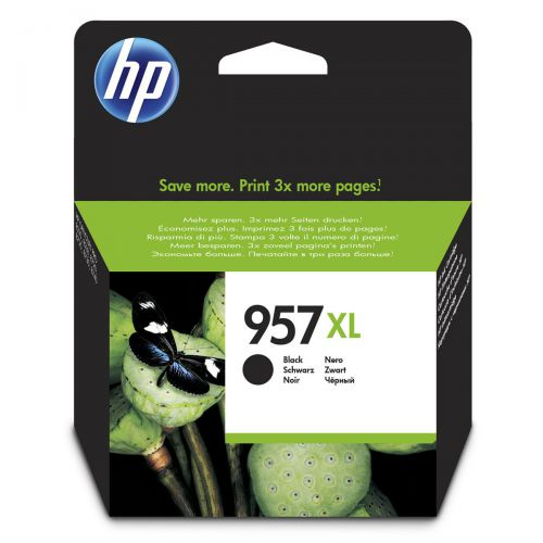 Hewlett Packard [HP] No.957XL Ink Cartridge High Yield 3000pp 63.5ml Black Ref L0R40AE