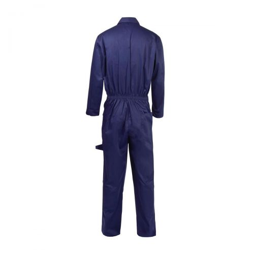 Coverall Basic with Popper Front Opening Polycotton Large Navy Ref RPCBSN44 Approx 3 Day Leadtime