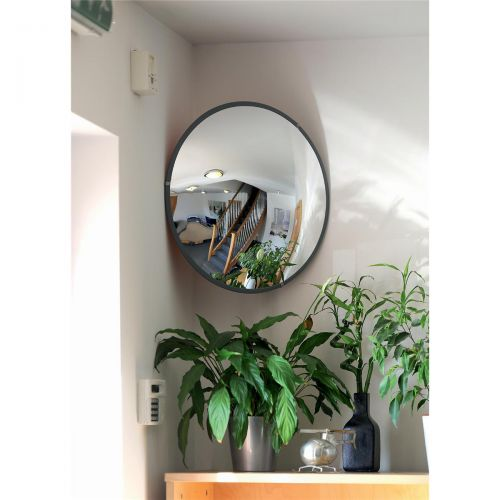 Indoor Security Mirror Durable Polycarbonate Steel Mounting Plates 600mm