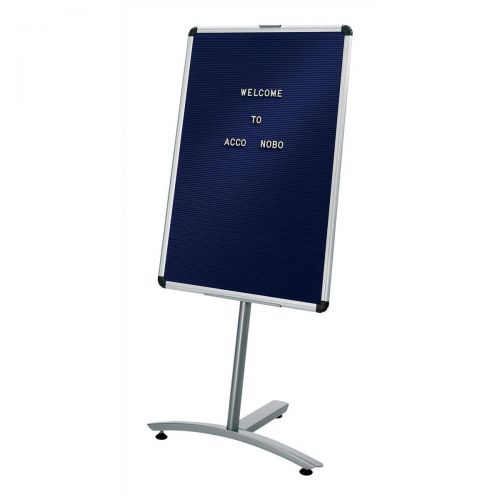 Nobo Welcome Foyer Board on Stand with Characters Aluminium Frame W600xH900mm Blue Ref 1901924