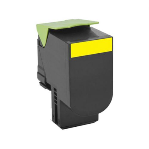 Lexmark 802Y Laser Toner Cartridge Return Programme Page Life 1000pp Yellow Ref 80C20Y0
