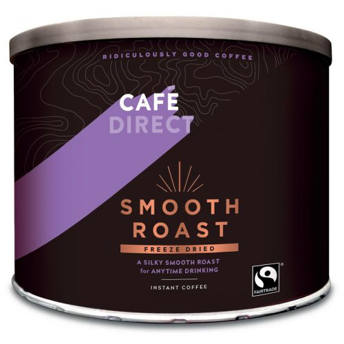 Cafe Direct Smooth Roast Freeze Dried Instant Coffee Tin 500g Ref FCF0003