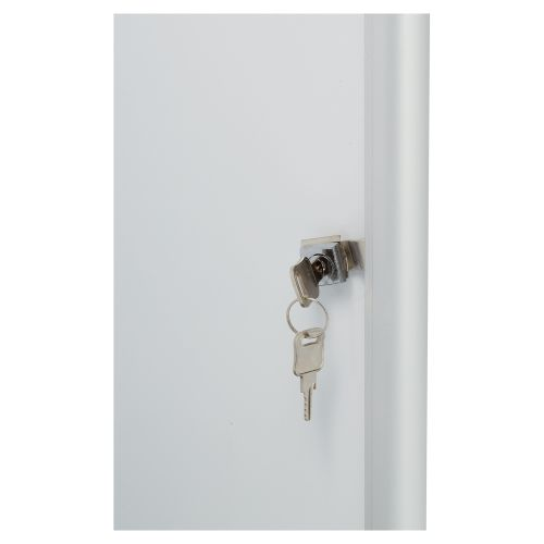 Nobo Noticeboard for Exterior Glazed Case Lockable Magnetic Steel 6xA4 W692xD45xH752mm Ref 1902578