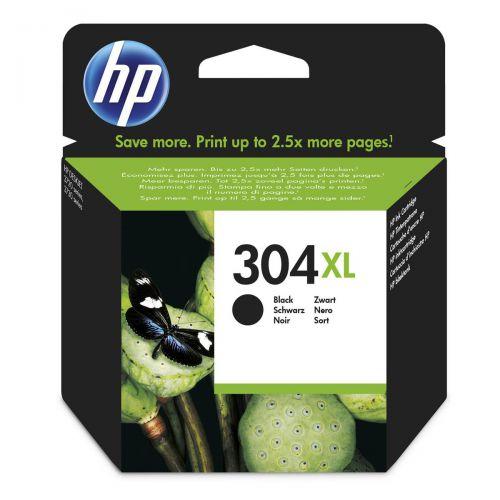 Hewlett Packard [HP] No.304XL Inkjet Cartridge High Yield Page Life 300pp 5.5ml Black Ref N9K08AE