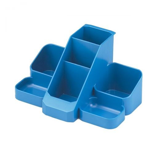 Avery Basics Desk Tidy 7 Compartments Blue Ref 1137BLUE