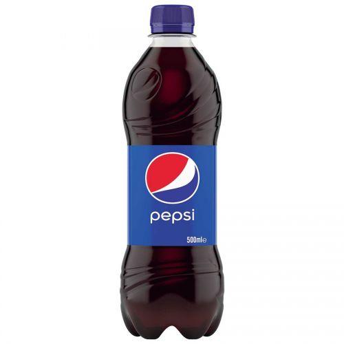 Pepsi Cola Flavour Drink Bottle Plastic 500ml Ref 205035 [Pack 24]