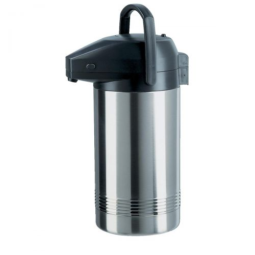 Addis Pump Pot Vacuum Jug Stainless Steel Retains Heat 8 Hours 3.8 Litres
