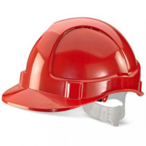 B-Brand Economy Vented Safety Helmet Red Ref BBEVSHRE *Up to 3 Day Leadtime*