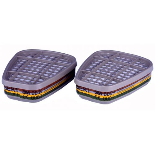 3M ABEK1 Filter Compatible With 3M 6000/7500 Series White Ref 6059 [Pair] *Up to 3 Day Leadtime*