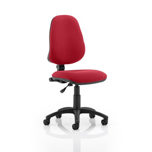 Trexus 1 Lever High Back Permanent Contact Chair Red 480x450x490-590mm Ref OP000161
