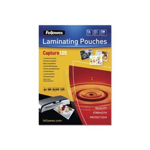 Fellowes Laminating Pouch 250 Micron A4 Ref 5307407 (Pack 100)