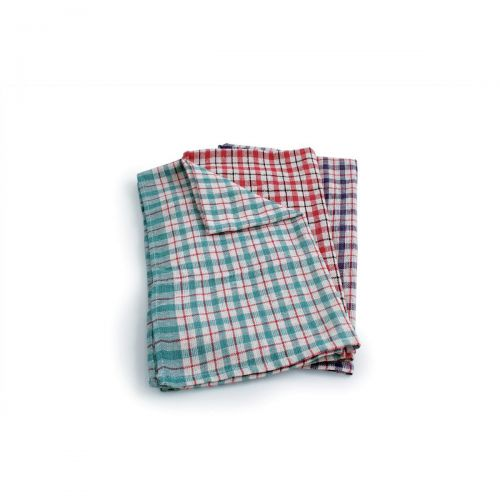 Tea Towels Checked Assorted Colours Ref SPC/TT01/10 [Pack 10]
