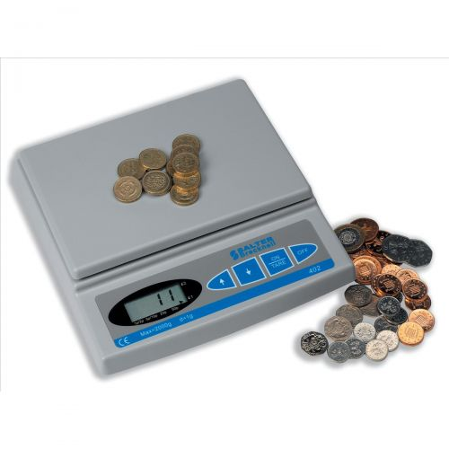 Image for Brecknell Coin Counter Electronic Checking Scale for all UK Coins Ref CC-804