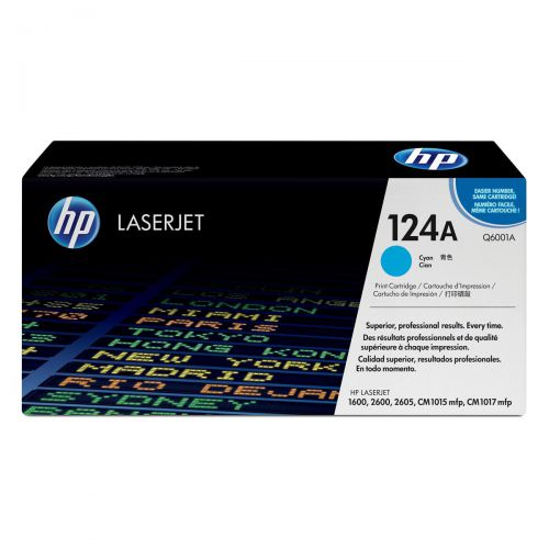 HP124A Laser Toner Cartridge Page Life 2000pp Cyan Ref Q6001A
