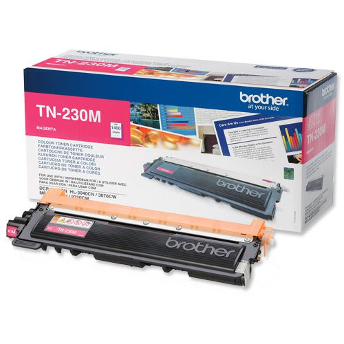 Brother Laser Toner Cartridge Page Life 1400pp Magenta Ref TN230M
