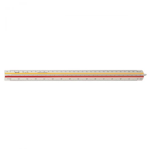Rotring Ruler Triangular Reduction Scale 4 Architect 1:10 to 1:500 with 2 Coloured Flutings Ref S0220641