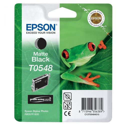 Epson T0548 Inkjet Cartridge Frog Page Life 550pp 13ml Matte Black Ref C13T05484010