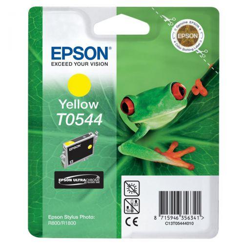 Epson T0544 Inkjet Cartridge Frog Page Life 400pp 13.1ml Yellow Ref C13T05444010