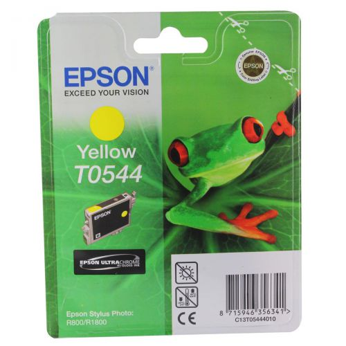 Epson T0544 Inkjet Cartridge Frog Page Life 400pp 13.1ml Yellow Ref C13T05444010
