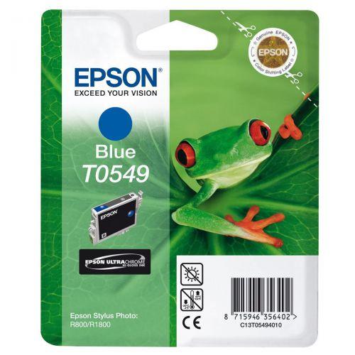 Epson T0549 Inkjet Cartridge Frog Page Life 400pp 13ml Blue Ref C13T05494010