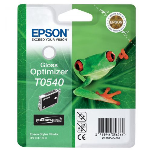 Epson T0540 Inkjet Cartridge Frog Page Life 400pp 13ml Gloss Optimiser Ref C13T05404010