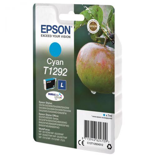 Epson T1292 Inkjet Cartridge Apple L Page Life 445pp 7ml Cyan Ref C13T12924012