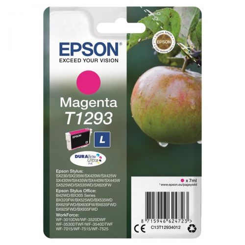 Epson T1293 Inkjet Cartridge Apple L Page Life 330pp 7ml Magenta Ref C13T12934012
