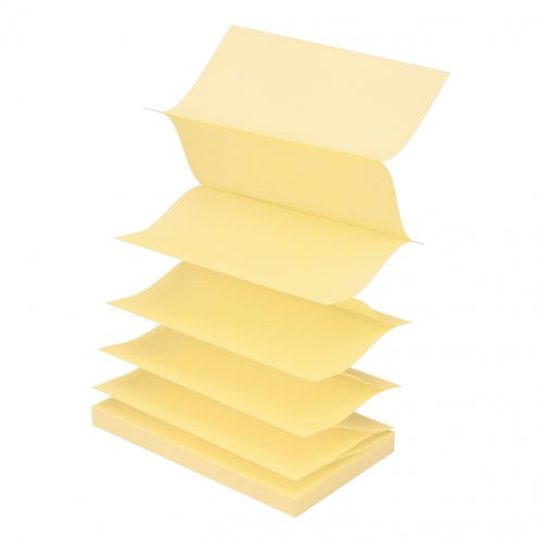 Post-it Z Notes 76x127mm Canary Yellow Ref R350Y [Pack 12]