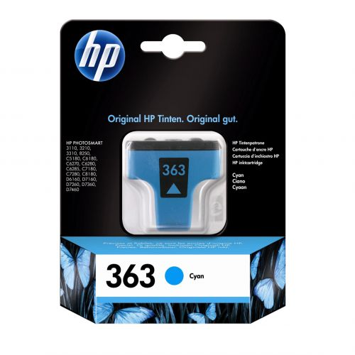 Hewlett Packard [HP] No.363 Inkjet Cartridge Page Life 400pp 4ml Cyan Ref C8771EE