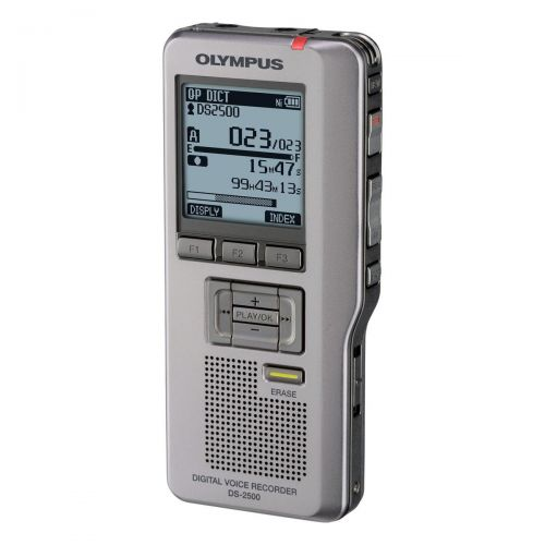 Olympus DS2500 148-303Hrs Recording and AS2400 Transcription Starter Kit USB 2GB Ref DS2500AS2400