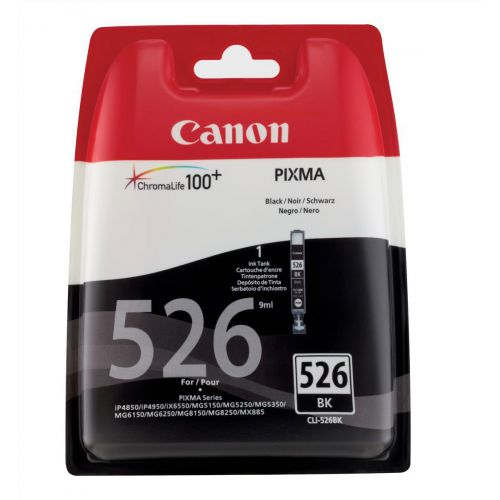 Canon CLI-526BK Inkjet Cartridge Page Life 660pp 9ml Black Ref 4540B001