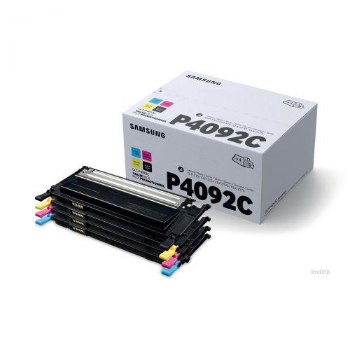 Samsung Laser Toner Value Pack Page Life 4500pp Black/Cyan/Magenta/Yellow Ref CLT-P4092C/ELS [Pack 4]