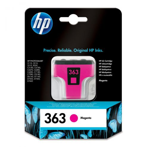 Hewlett Packard [HP] No.363 Inkjet Cartridge Page Life 370pp 3.5ml Magenta Ref C8772EE