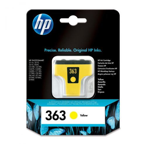 Hewlett Packard [HP] No.363 Inkjet Cartridge Page Life 500pp 6ml Yellow Ref C8773EE