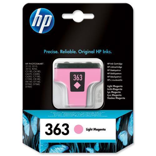 Hewlett Packard [HP] No.363 Inkjet Cartridge Page Life 230pp 5.5ml Light Magenta Ref C8775EE