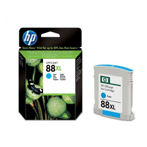 Hewlett Packard [HP] No.88XL Inkjet Cartridge High Yield Page Life 1700pp 17.1ml Cyan Ref C9391AE