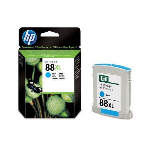 Hewlett Packard [HP] No.88XL Inkjet Cartridge High Yield Page Life 1700pp 17.1ml Cyan Ref C9391AE