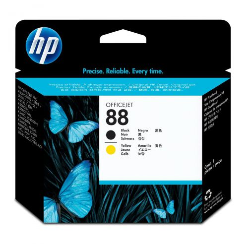 Hewlett Packard [HP] No.88 Inkjet Printhead Page Life 41500pp Black & Yellow Ref C9381A