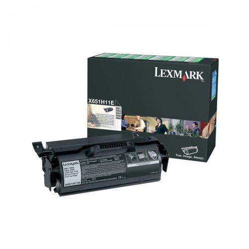 Lexmark Laser Toner Cartridge Return Program High Yield Page Life 25000pp Black Ref X651H11E